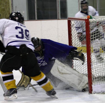 Will Bryant making a save